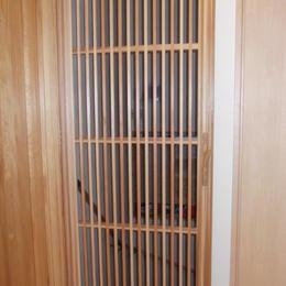 巾ハギ格子戸(取手:木の枝)