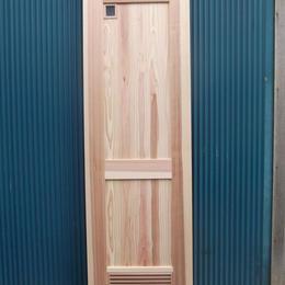 框組板張り及び額とガラリ入ドア