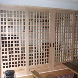 素組框組戸(タモ材)